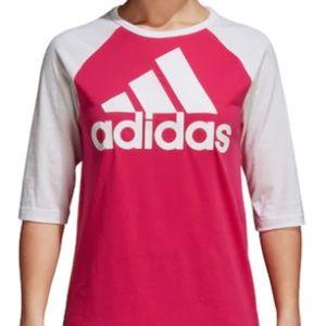 Adidas Athletics Sport ID Raglan Logo T-Shirt Sml
